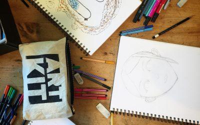 Portraits, Pointillism & Pens: A Mini How To