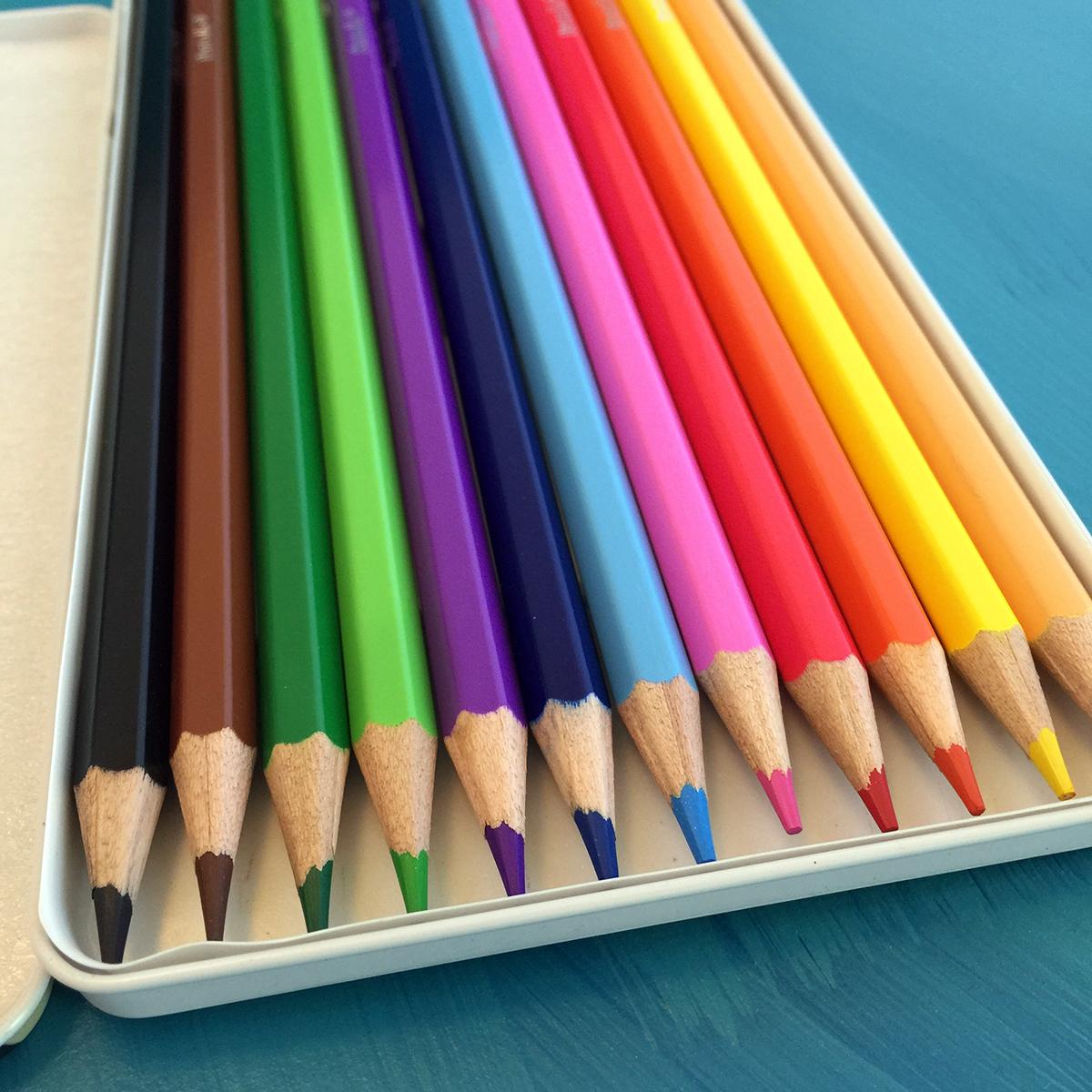 Pentalic Colored Pencil Tin