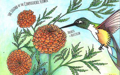 Marigolds, Hummingbirds & Dia de Muertos